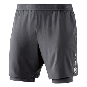 Skins Men's DNAmic Superpose Half Tights: Tarmac-Shorts-Likeys
