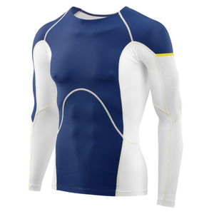 Skins Men's DNAmic Ultimate Cooling LS Top: White/Zephyr-Tees-Likeys