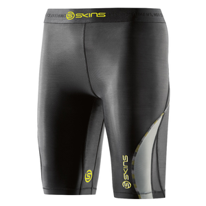 Skins Women's DNAmic Half Tights: Black/Limoncello-Shorts-Likeys