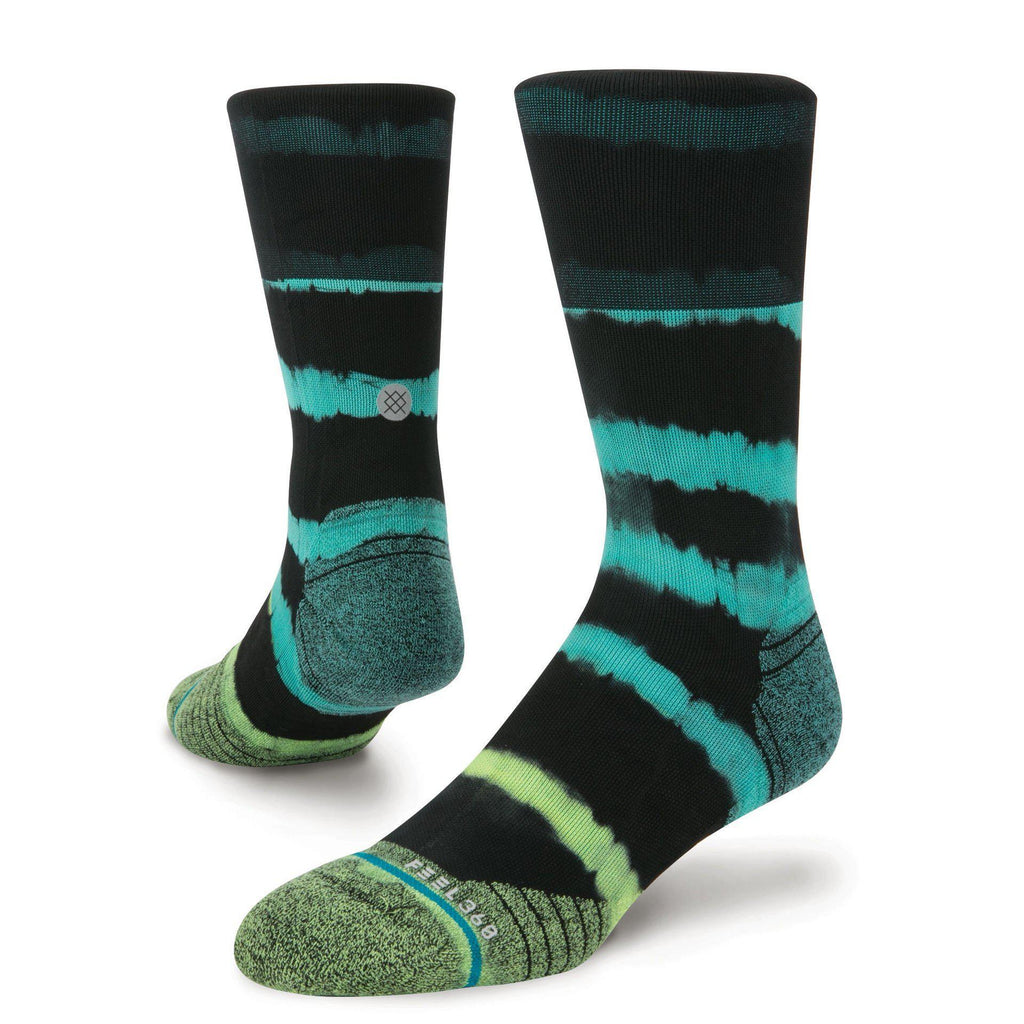 Stance Run Mens Kalalau Crew: Green-Socks-Likeys