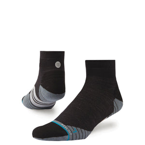 Stance Run Mens Uncommon Solids Wool Quarter: Charcoal-Socks-Likeys