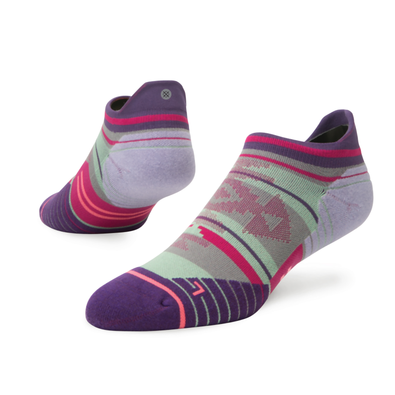 Stance Run Womens Connect Tab: Purple-Socks-Likeys
