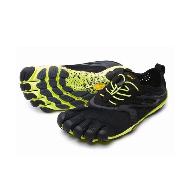 Vibram Men's Five Fingers V-Run: Black/Yellow-Road Running Shoes-Likeys