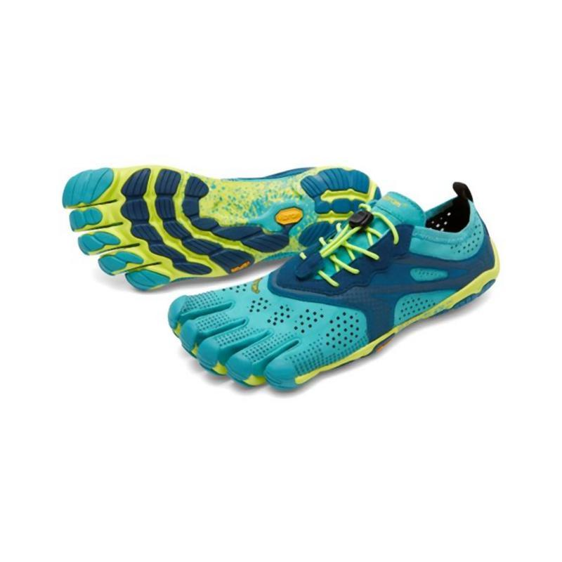 the latest 85f53 8a180 Vibram Women s Five Fingers V-Run  Teal Navy-Road Running Shoes-