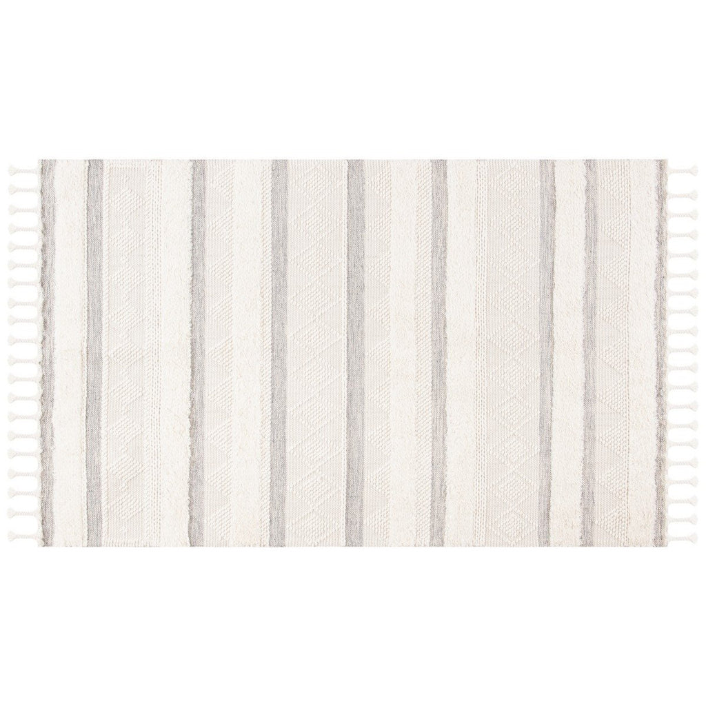 IVORY/ GREY STRIPE EASTON RUG
