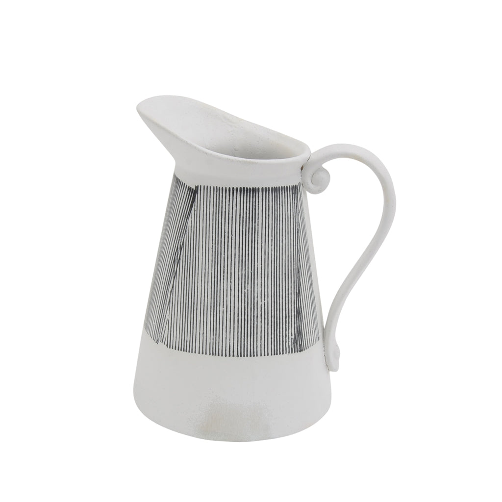"GRAY CERAMIC PITCHER 9.5"" VASE"