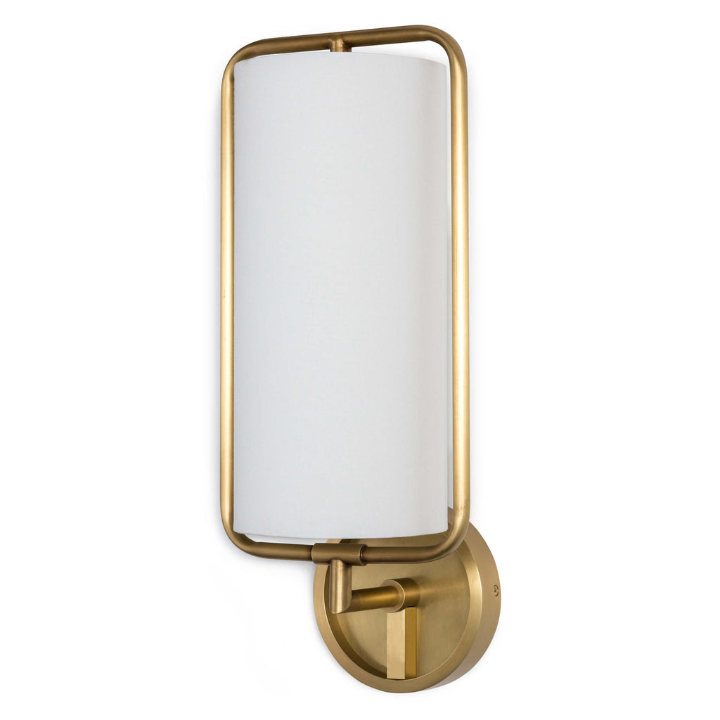 GEO RECTANGLE SCONCE (NATURAL BRASS)
