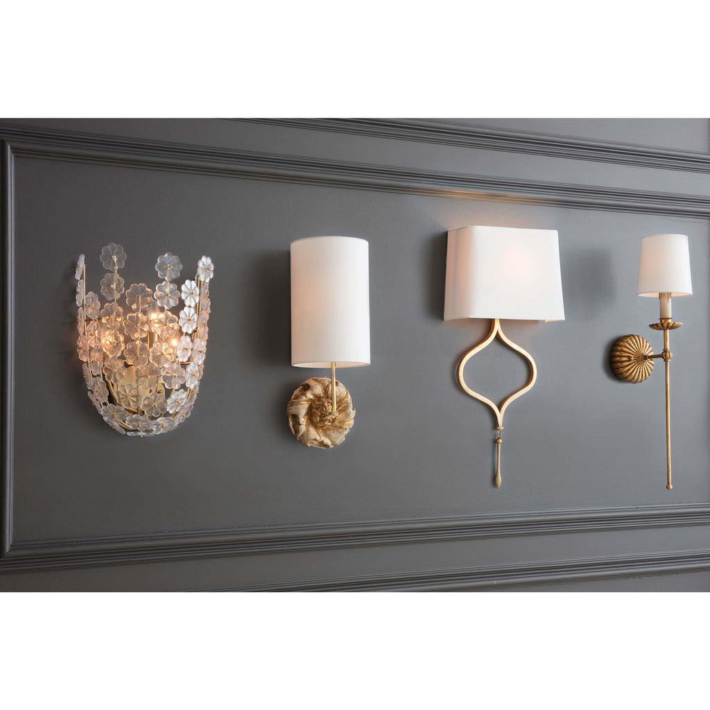 CLOVE SCONCE SINGLE (ANTIQUE GOLD LEAF)