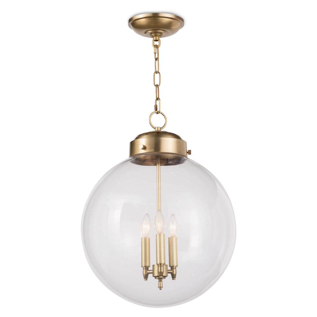 GLOBE PENDANT (NATURAL BRASS)