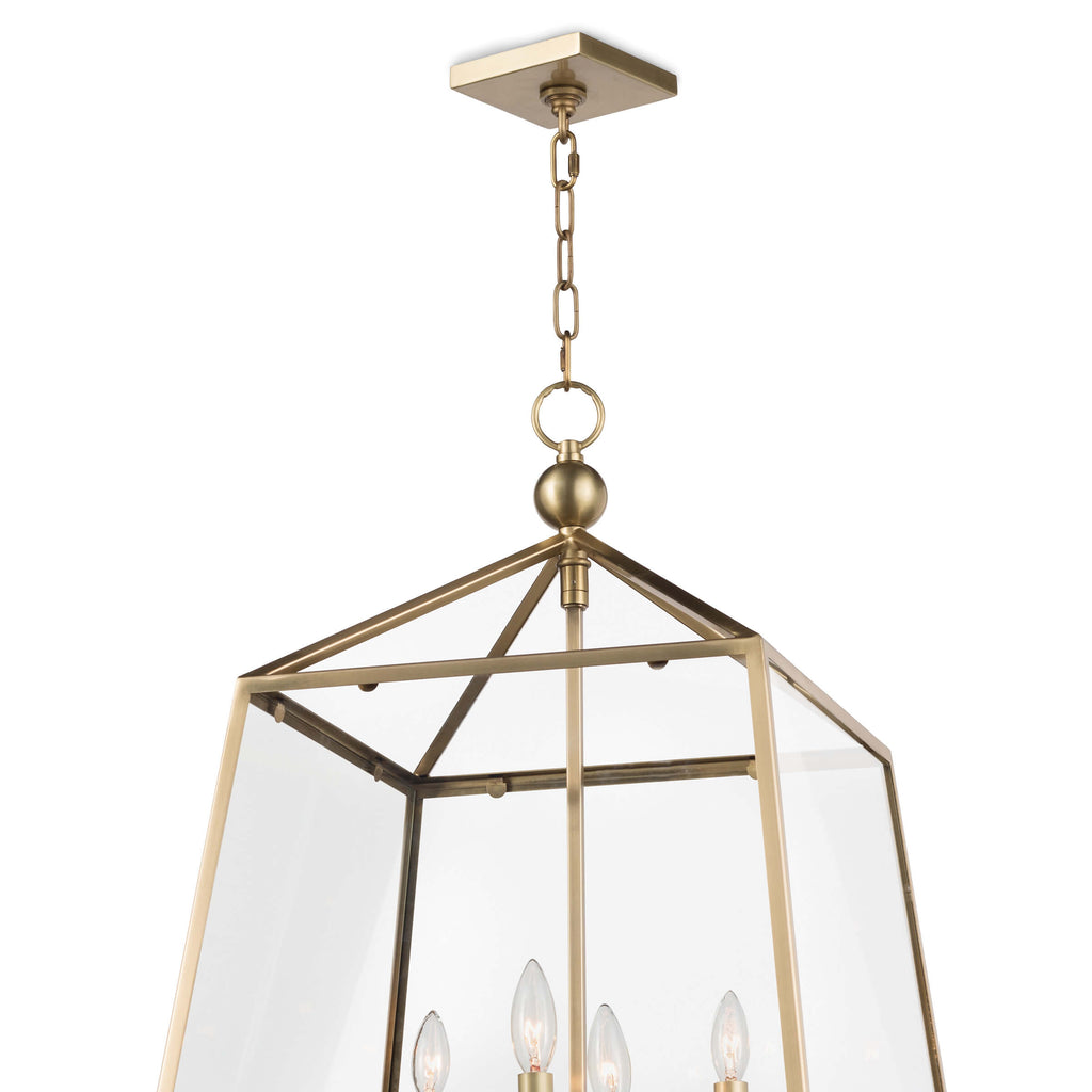 CACHET LANTERN (NATURAL BRASS)