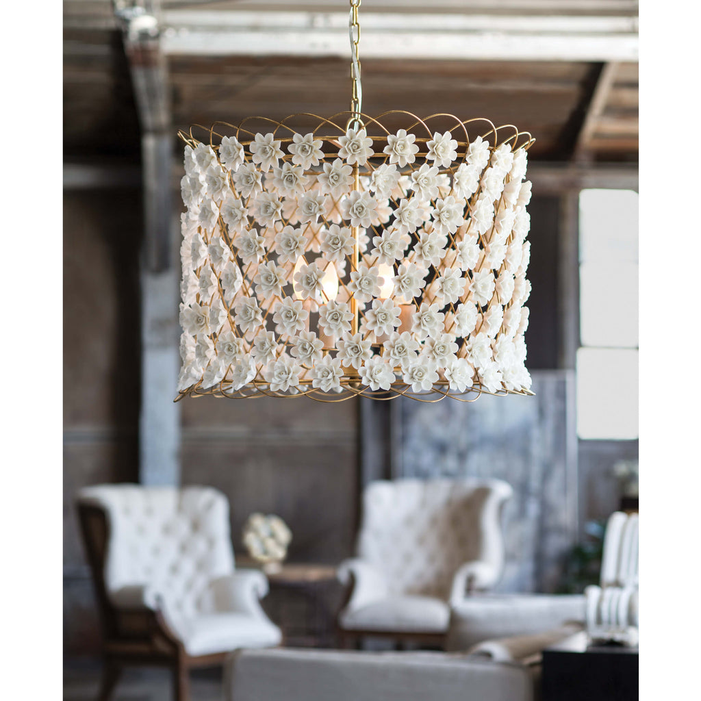 ALICE PORCELAIN FLOWER CHANDELIER
