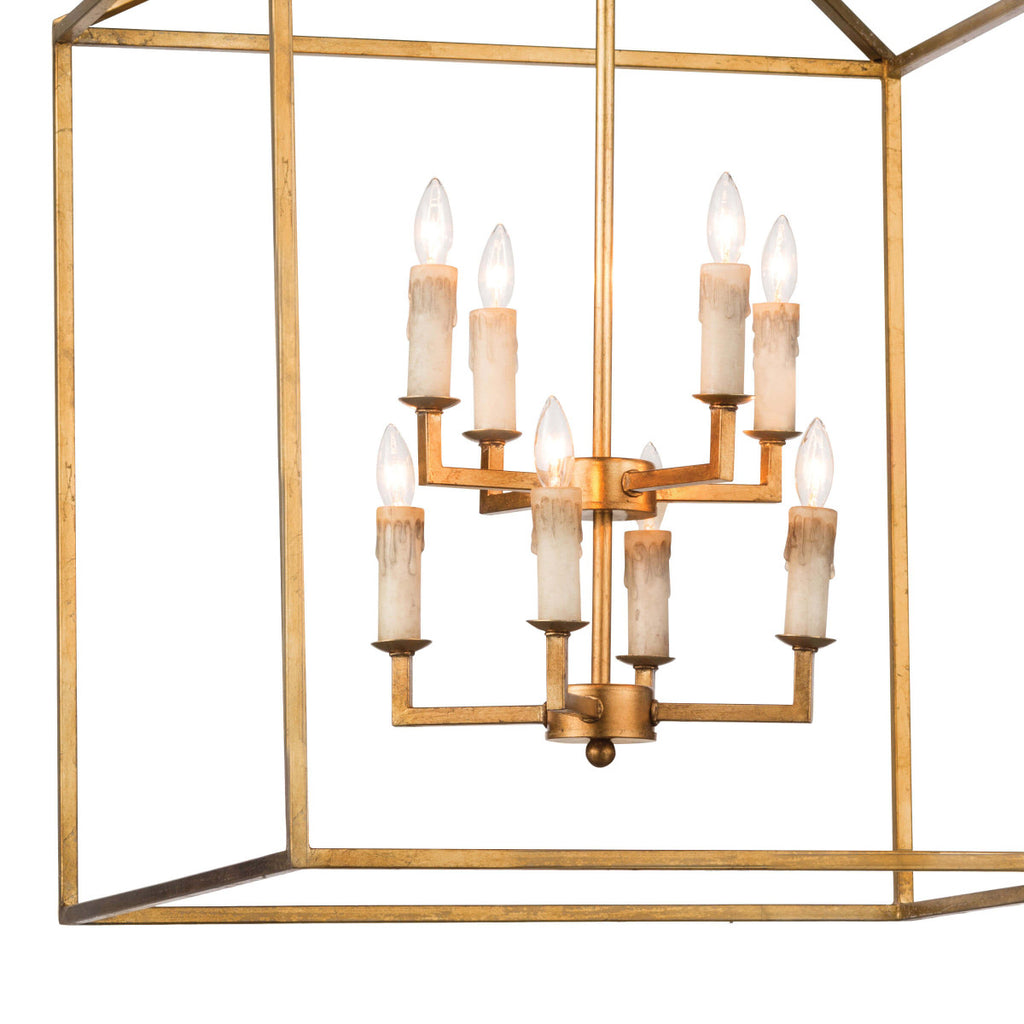 CAPE LANTERN (ANTIQUE GOLD LEAF)