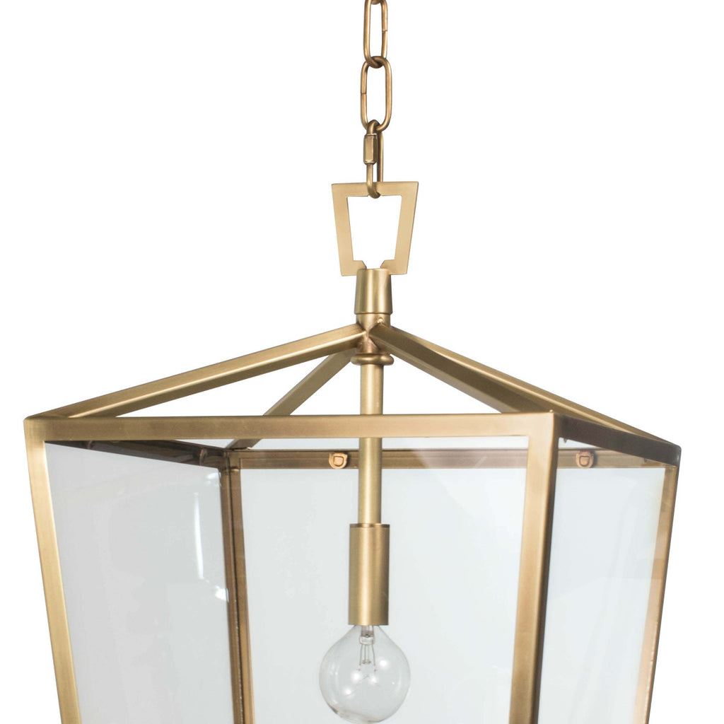 CAMDEN LANTERN SMALL (NATURAL BRASS)