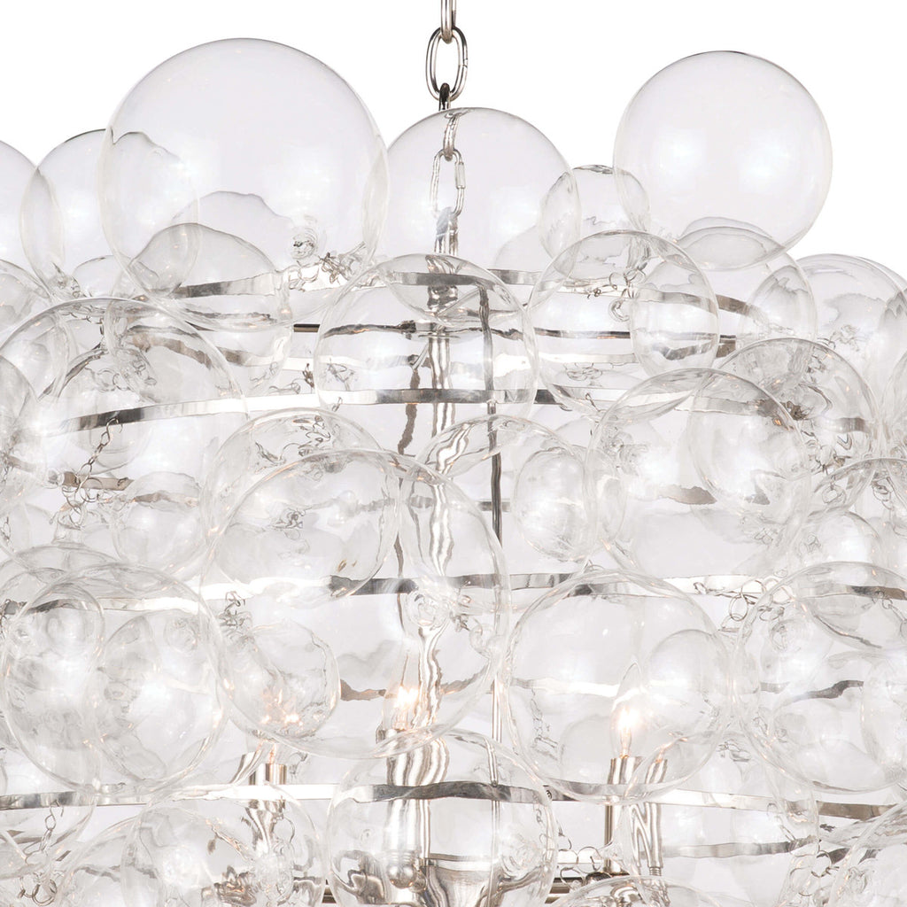 NIMBUS GLASS CHANDELIER (CLEAR)