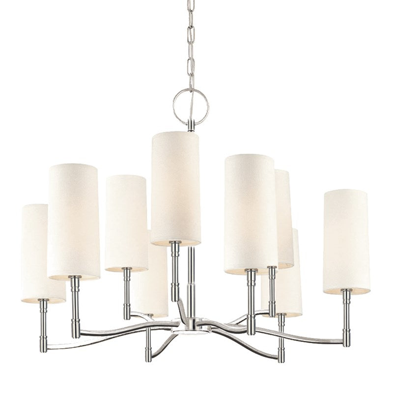 POLISHED NICKEL DILLON CHANDELIER