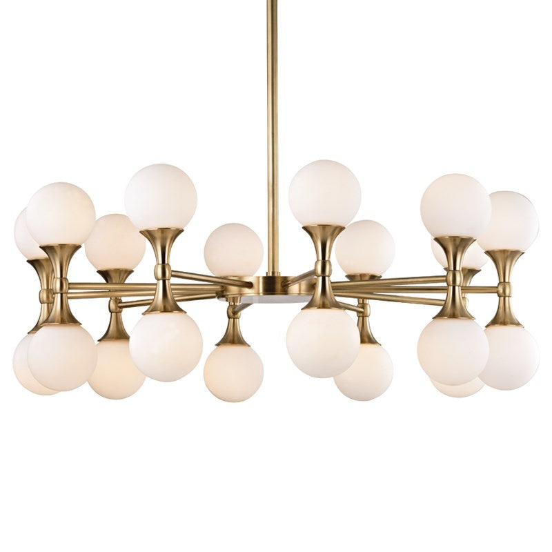 AGED BRASS LARGE ASTORIA CHANDELIER