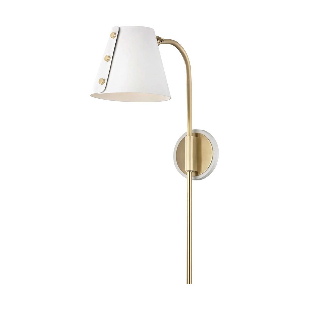 AGED BRASS/WHITE METAL LIGHT