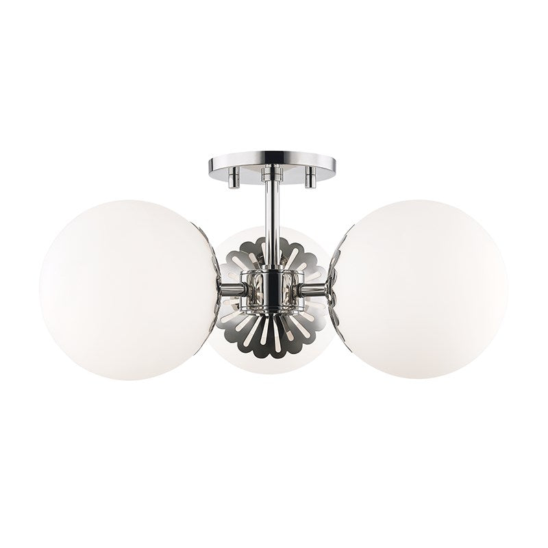 POLISHED NICKEL PAIGE SCONCE
