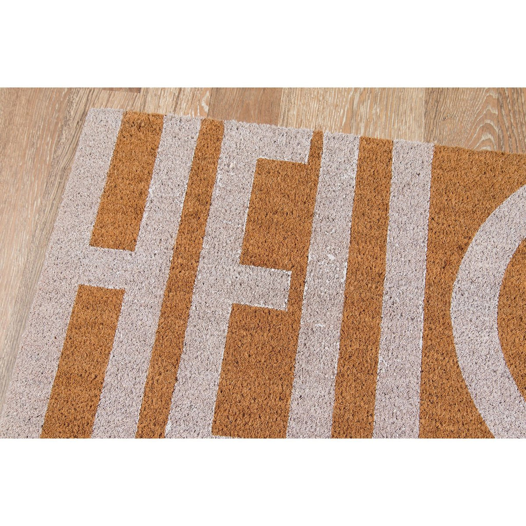 WHITE HELLO MAT