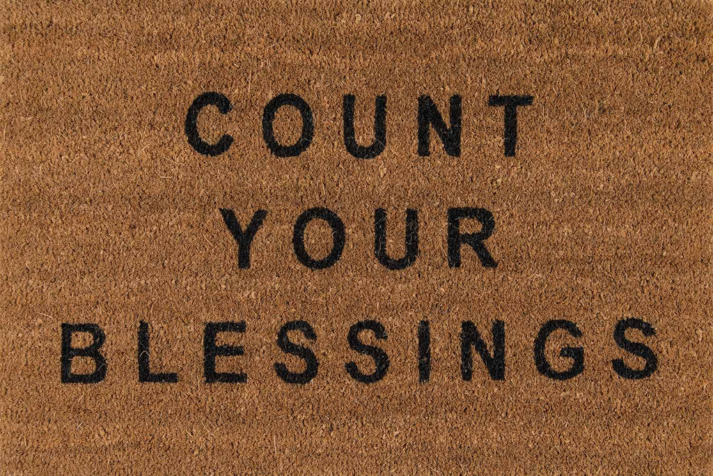 NATURAL COUNT YOUR BLESSINGS MAT