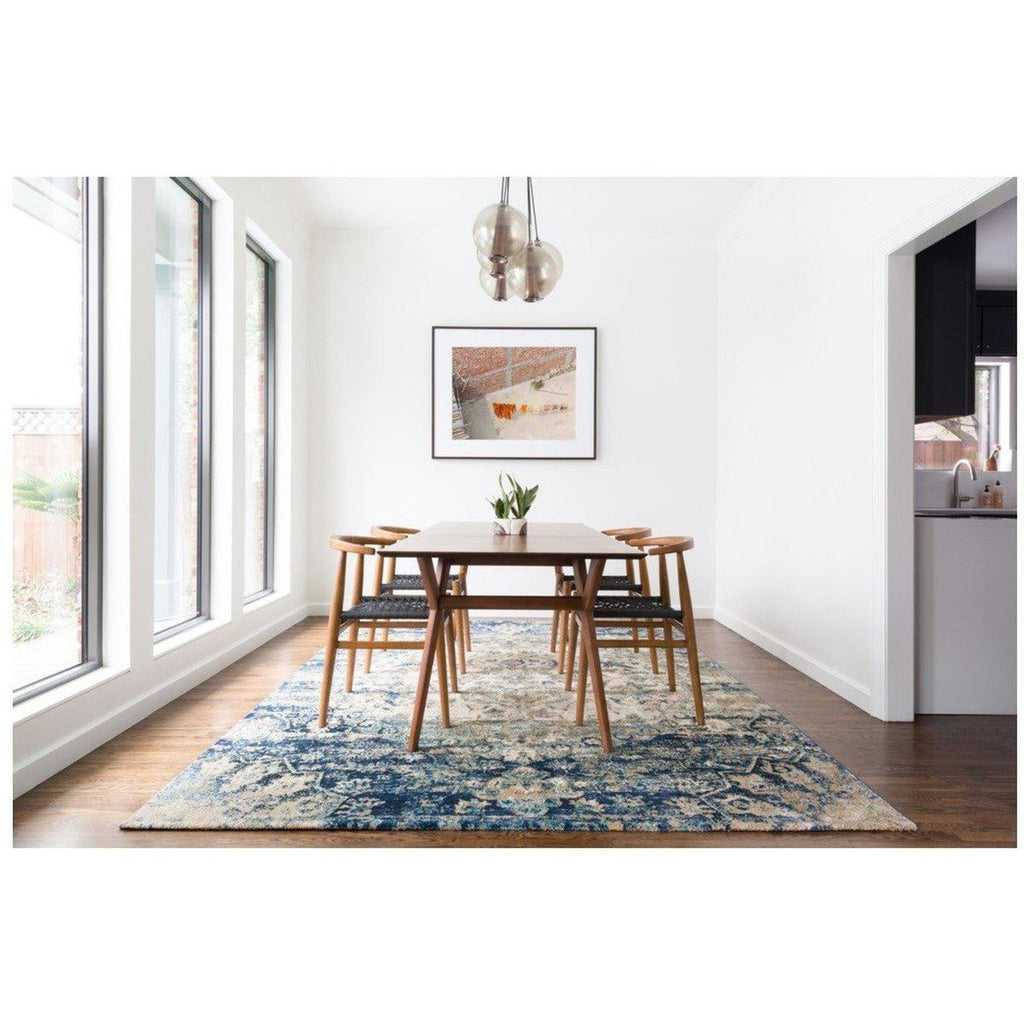 BLUE AND IVORY ANASTASIA RUG