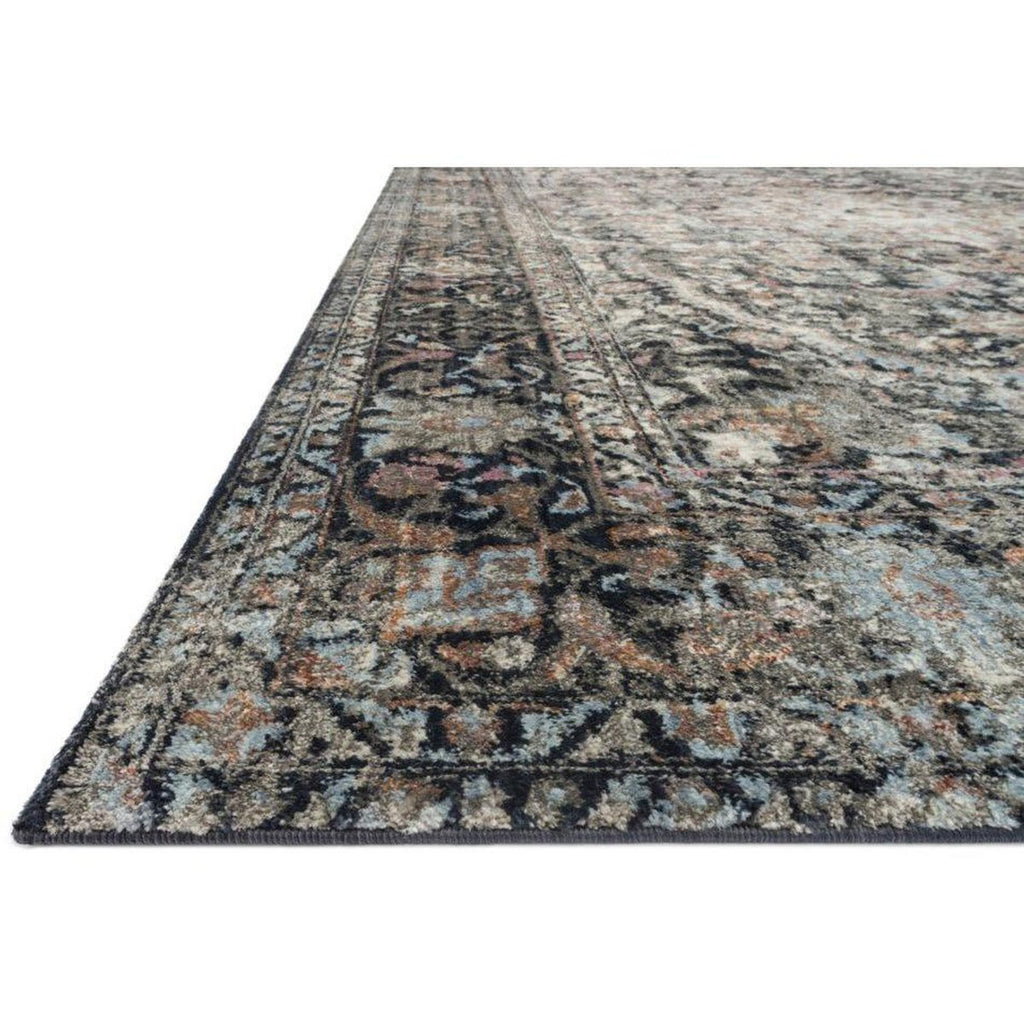CHARCOAL AND SUNSET ANASTASIA RUG