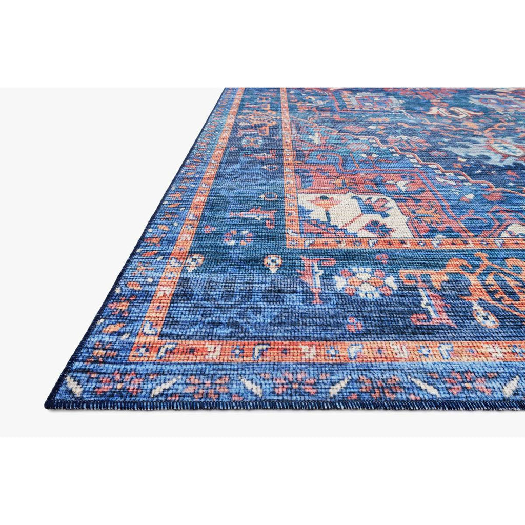 blue multi cielo rug close up