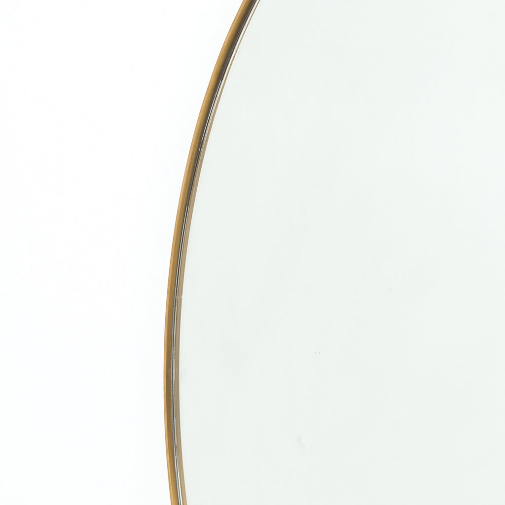 OVERSIZED POLISHED BRASS ROUND MIRROR