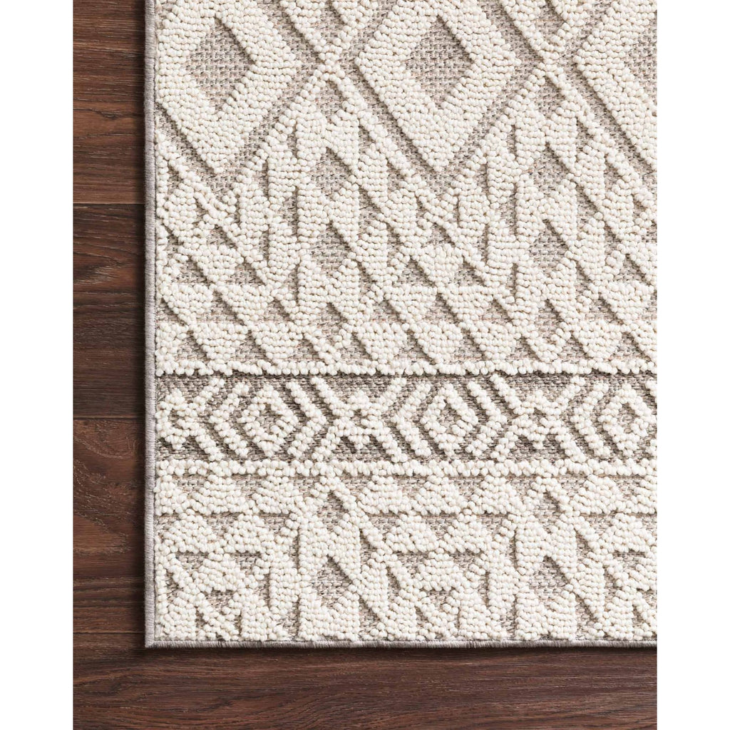 SILVER/ IVORY COLE RUG