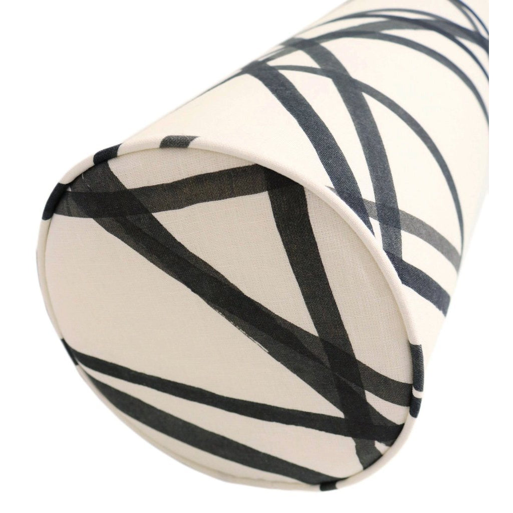 THE BOLSTER CHANNELS EBONY/ IVORY PILLOW