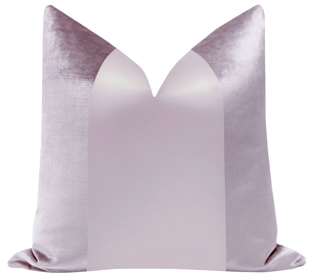 FAUX SILK VELVET LAVENDER PILLOW