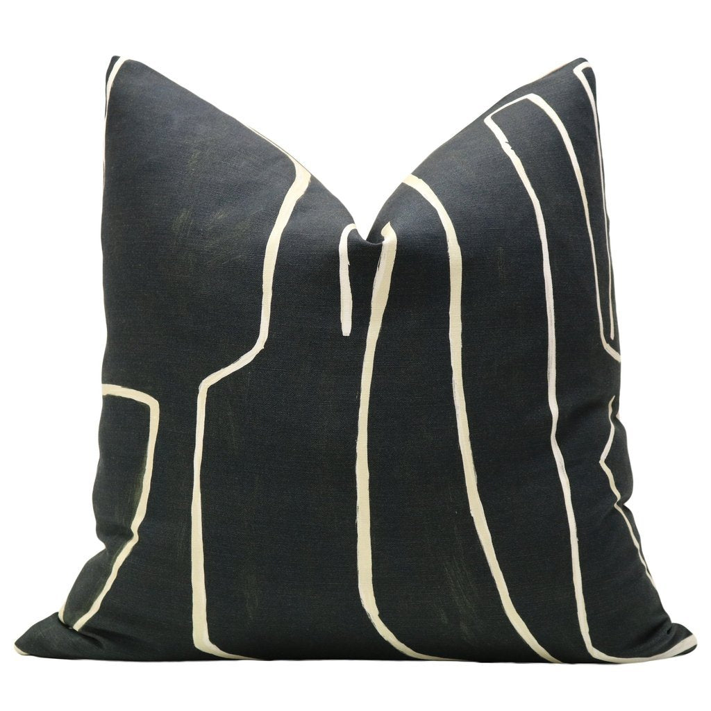 GRAFFITO ONYX BEIGE PILLOW