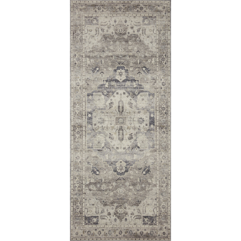 steel and ivory hathaway rug runner