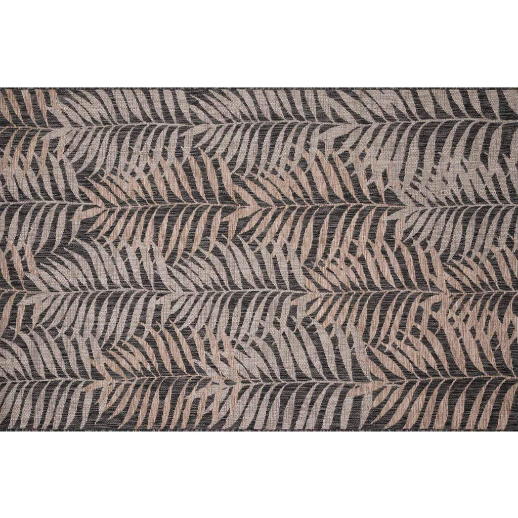 NATURAL/ BLACK ISLE RUG