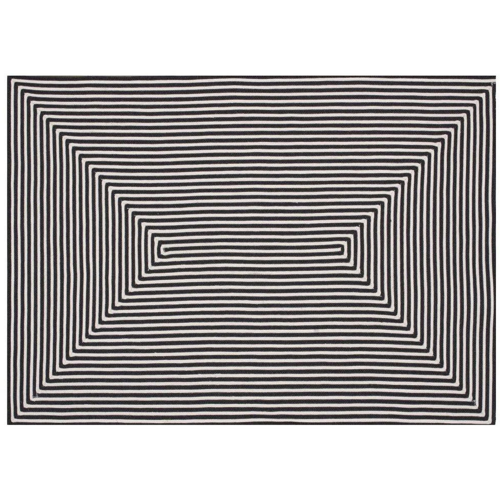 BLACK IN-OUT RUG
