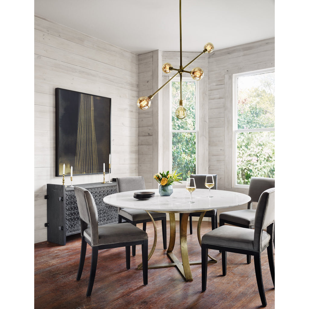 GAGE POLISHED MARBLE DINING TABLE