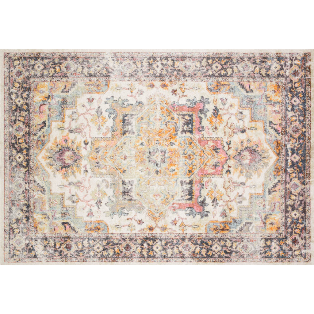 Ivory and Charcoal Clara Rug