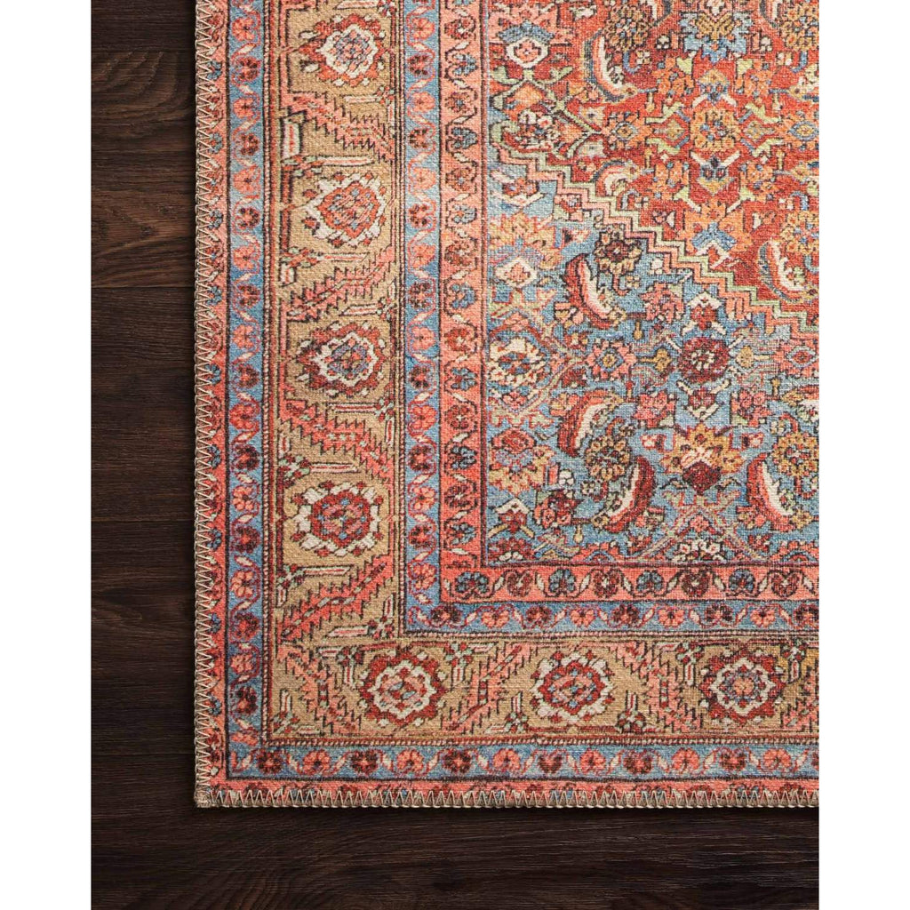 RED/ MULTI LOREN RUG