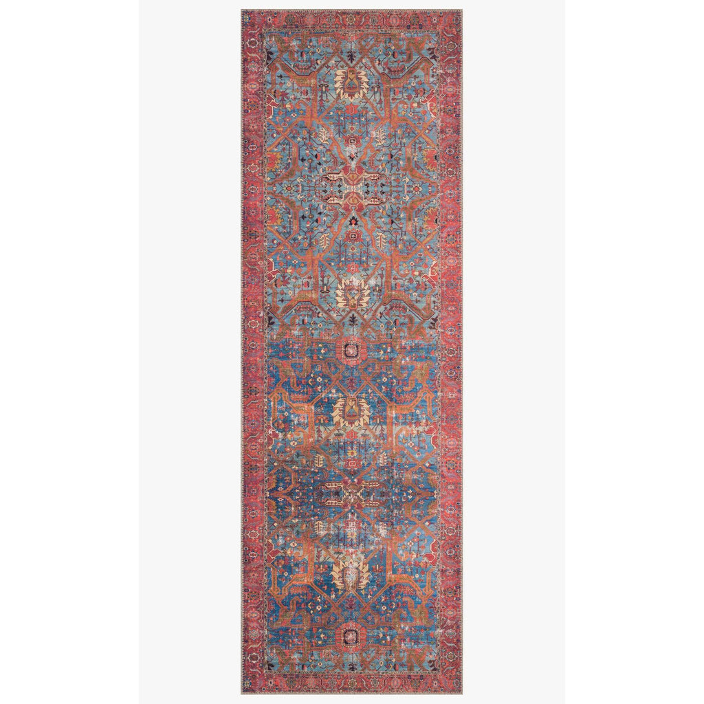 BLUE/ RED LOREN RUG