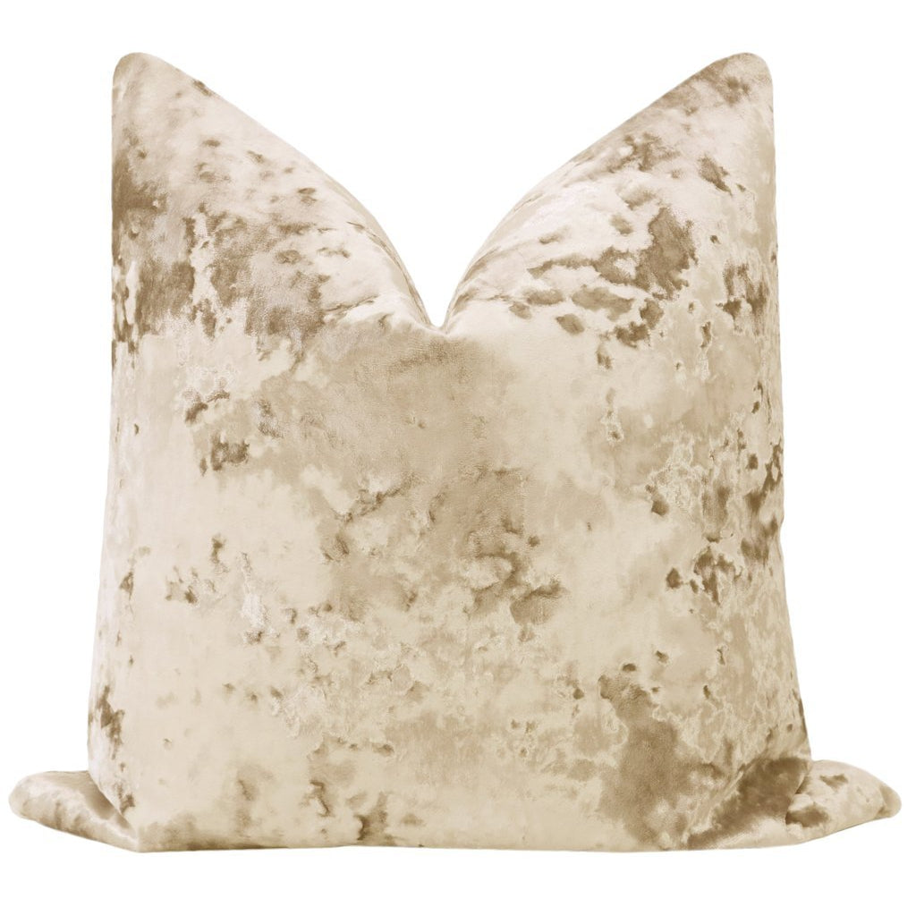 LAVISH VELVET CHAMPAGNE PILLOW