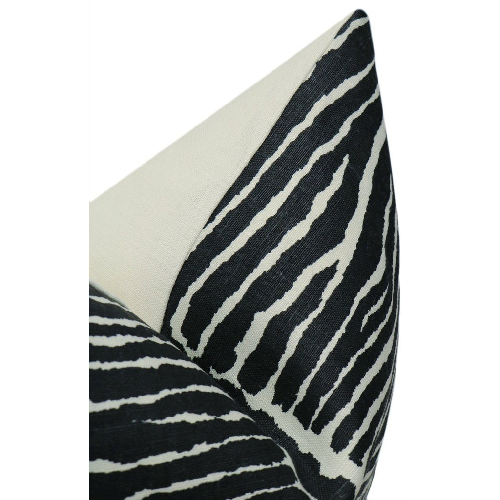 LE ZEBRE BLACK PILLOW