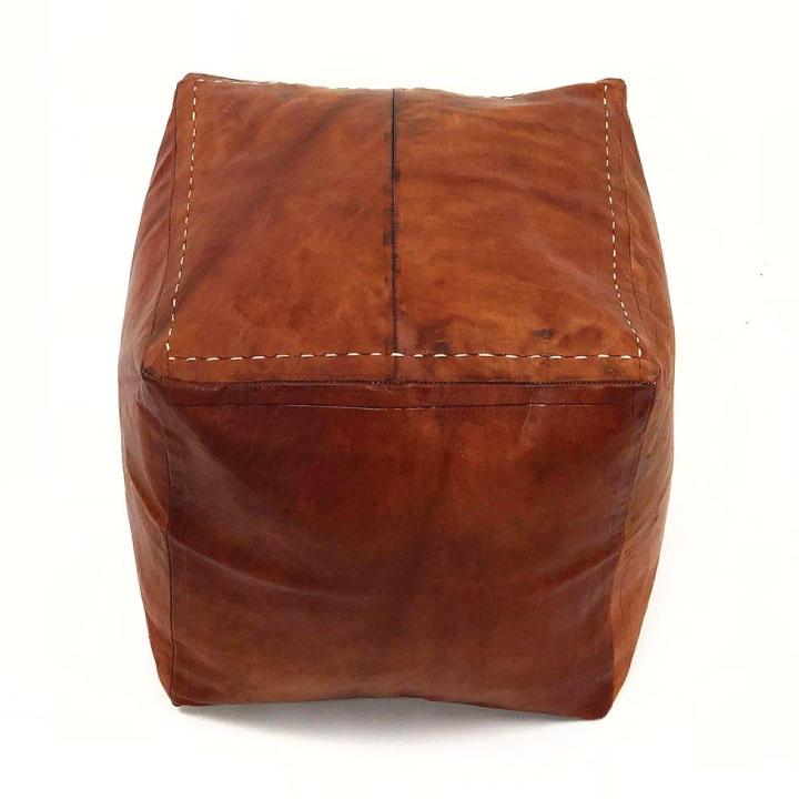 manu leather poof