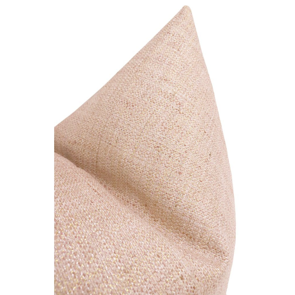 METALLIC LINEN ROSE GOLD PILLOW