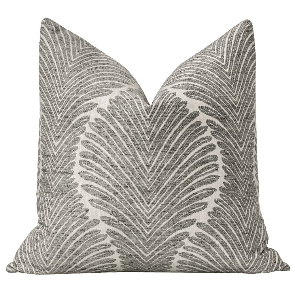 MUSGROVE CHENILLE CHARCOAL PILLOW