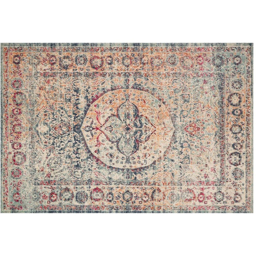 BLUE AND MULTICOLOR NOUR RUG