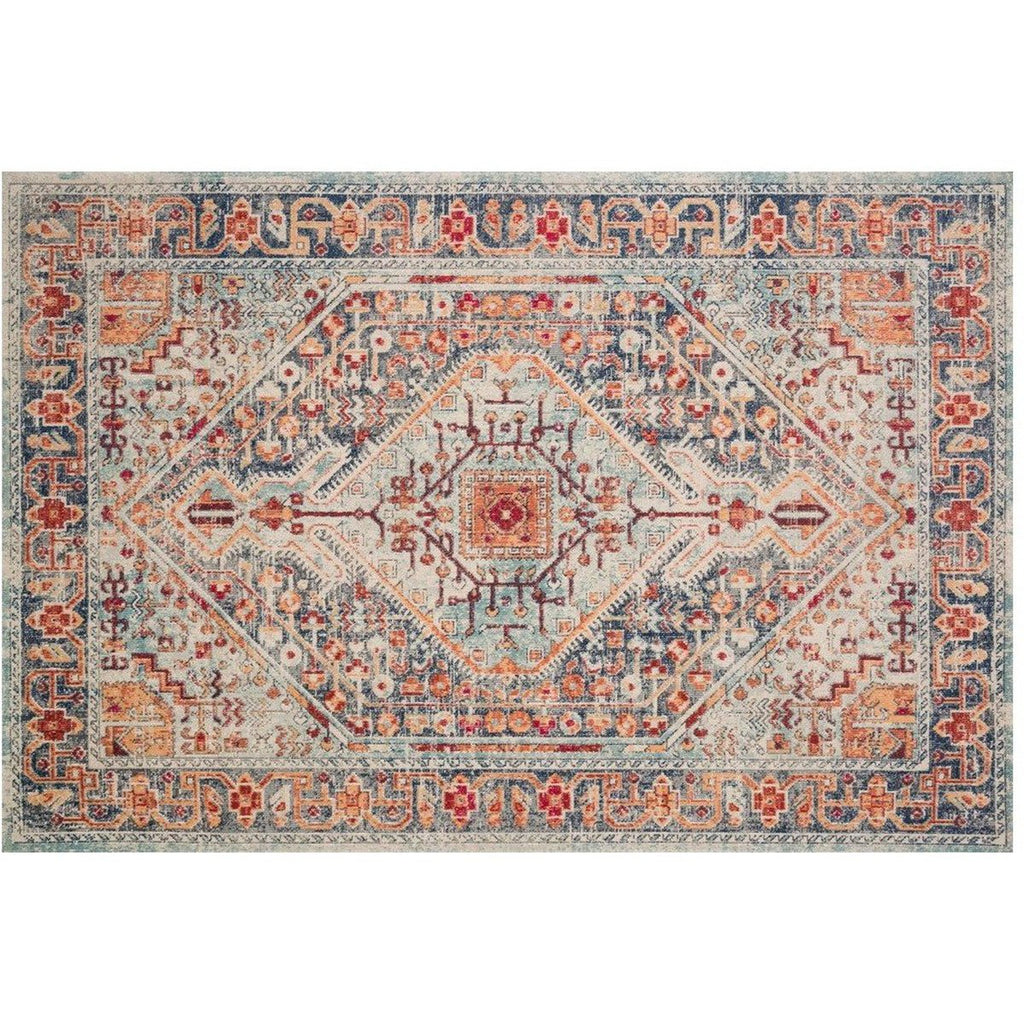 BLUE AND FIESTA NOUR RUG