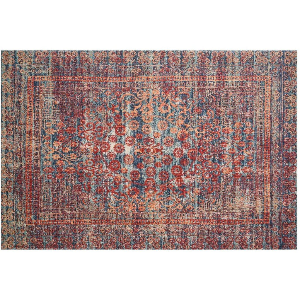 RED AND NAVY NOUR RUG