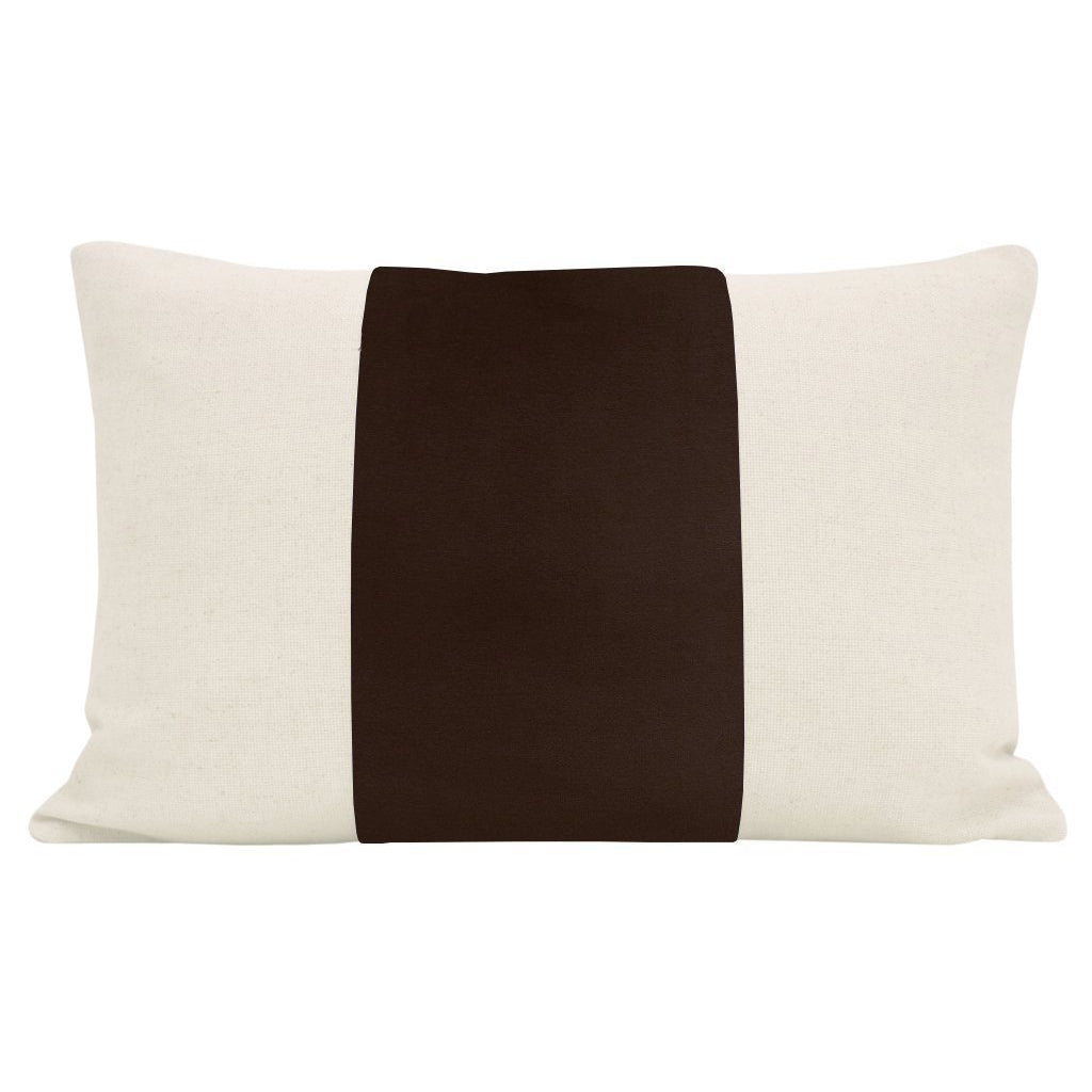LITTLE LUMBAR PANEL SIGNATURE VELVET IN CHOCOLATE