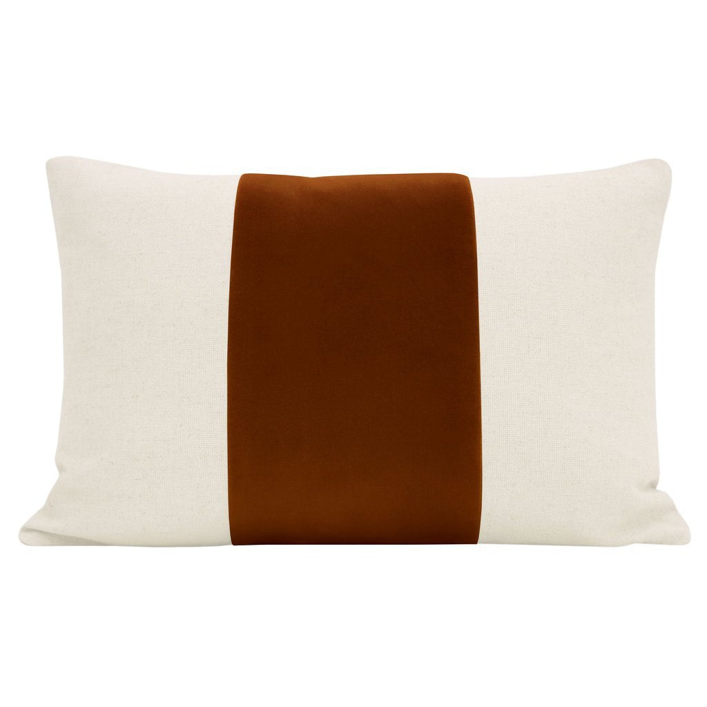 LITTLE LUMBAR PANEL SIGNATURE VELVET IN COGNAC