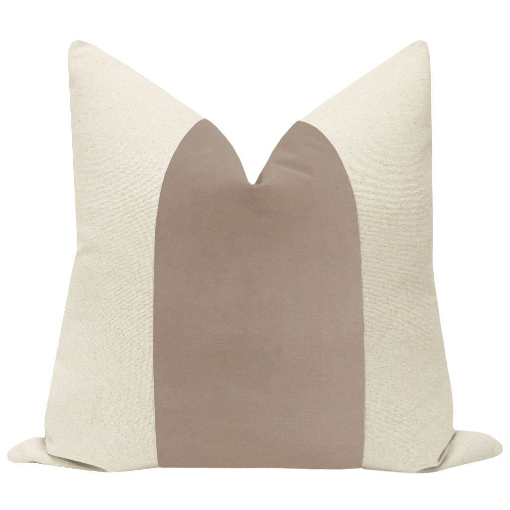 PANEL SIGNATURE VELVET MAUVE PILLOW